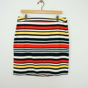 Banana Republic Pencil Skirt Multi Color Stripe